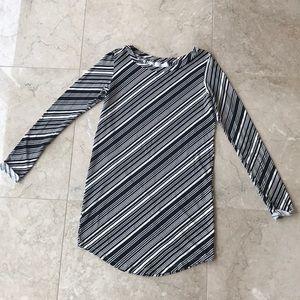 Fighting Eel Ava Sky striped long sleeve tunic top